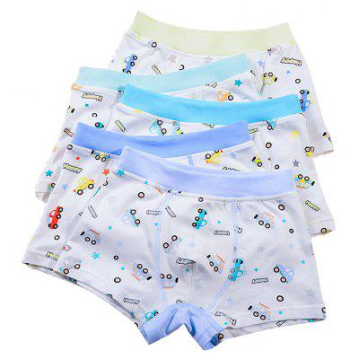 1398 Baby Boy's Panty Giraffe Cartoon Car Printed Underwear Pure Cotton Organic Cotton Panties 5pcs Underwear