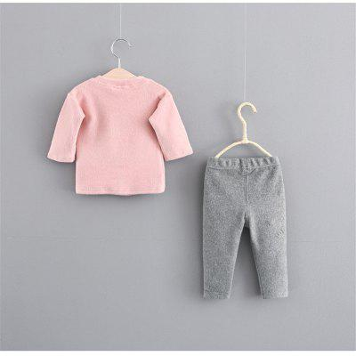 Girls' Casual ABC Bunny Jacket and Trousers Two Pieces