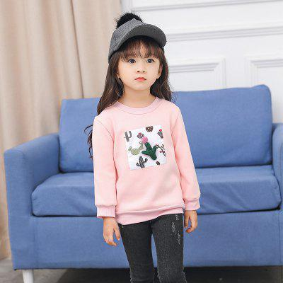 Girls Winter Long Sleeved Shirt Collar Cactus-TSFY17672