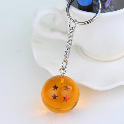 Anime Keychain 3D Crystal Ball Key chain Collection Toy Gift key Ring(4 Star)