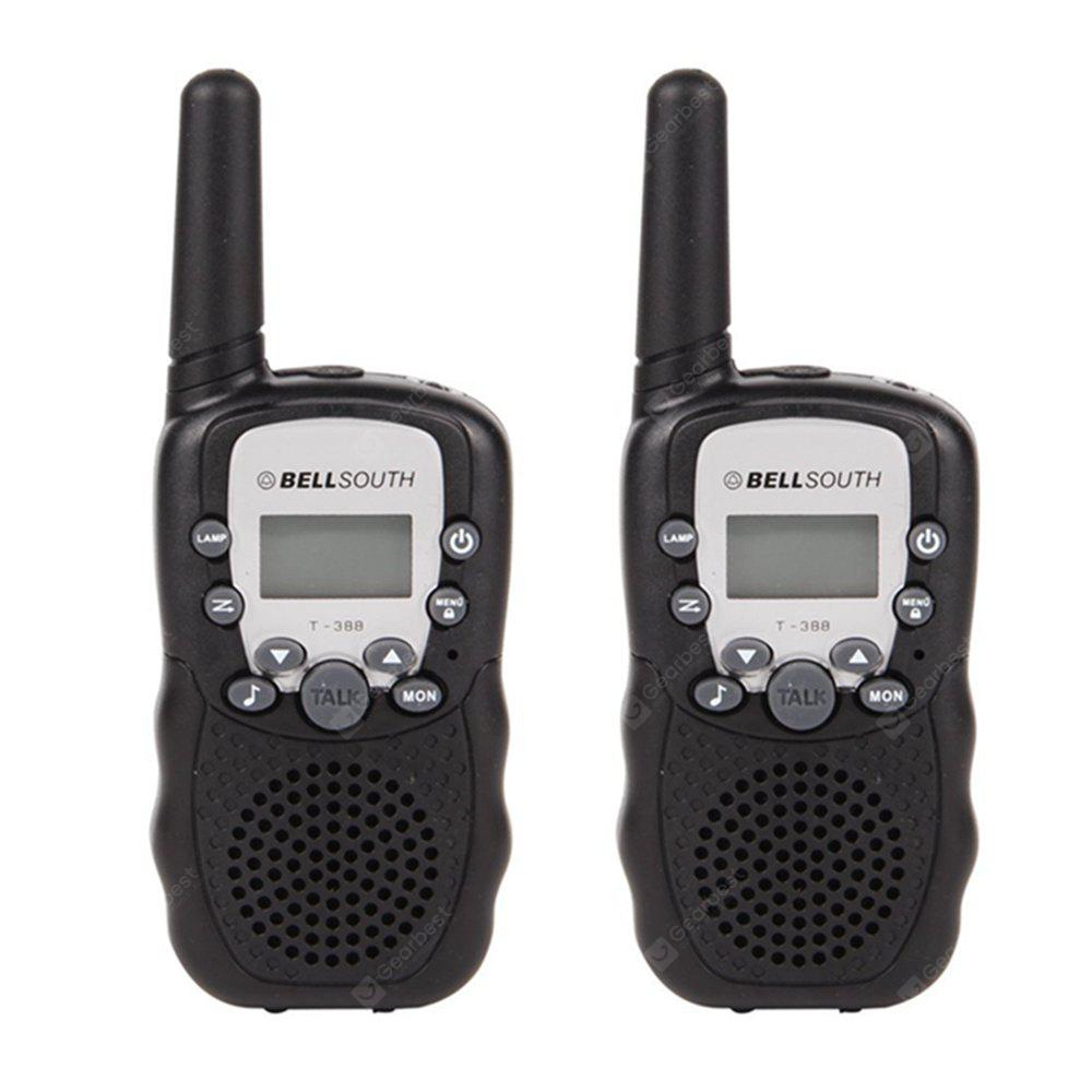 2PCS T-388 Children Walkie Talkie Kids Radio Toys Walkie Talkie Two Way Radio Children Gift - BLACK