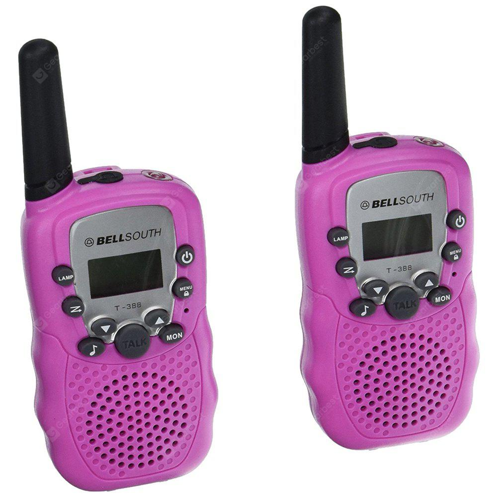 2PCS T-388 Children Walkie Talkie Kids Radio Toys Walkie Talkie Two Way Radio Children Gift - PINK