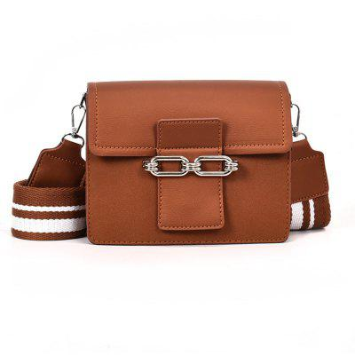 Female Wide Strap Wild Buckle Shoulder Messenger Small Square Package
