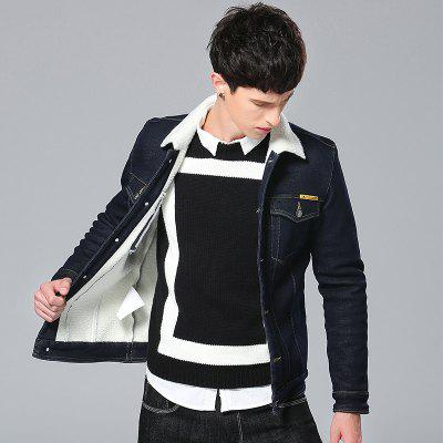 Winter Warm Denim Men JeansMens Jackets &amp; Coats<br>Winter Warm Denim Men Jeans<br><br>Clothes Type: Others<br>Collar: Turn-down Collar<br>Fabric Type: Canvas<br>Material: Cotton, Polyester<br>Package Contents: 1xJacket<br>Season: Winter<br>Shirt Length: Regular<br>Sleeve Length: Long Sleeves<br>Style: Casual<br>Weight: 0.5000kg