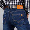Mens Straight Fit Stretch Denim Pants Large Size Trousers Casual Cowboys Man Jeans - BLUE