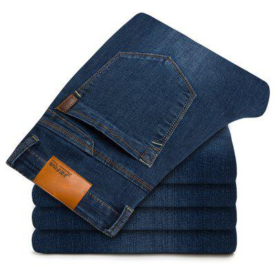 Straight Elastic Factory JeansPlus Size Bottoms<br>Straight Elastic Factory Jeans<br><br>Closure Type: Zipper Fly<br>Fabric Type: Canvas<br>Fit Type: Straight<br>Front Style: Flat<br>Material: Cotton, Polyester, Spandex<br>Package Contents: 1xJeans<br>Pant Length: Long Pants<br>Pant Style: Straight<br>Style: Casual<br>Waist Type: Mid<br>Weight: 0.4000kg