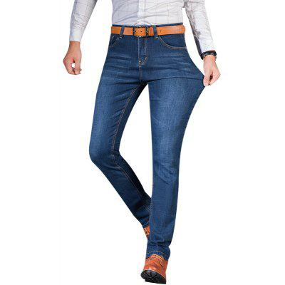 Buy Straight Elastic Factory Jeans BLUE 40 for $27.88 in GearBest store
