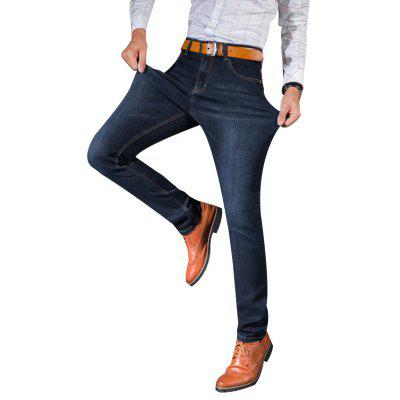 Straight Elastic Factory Jeans