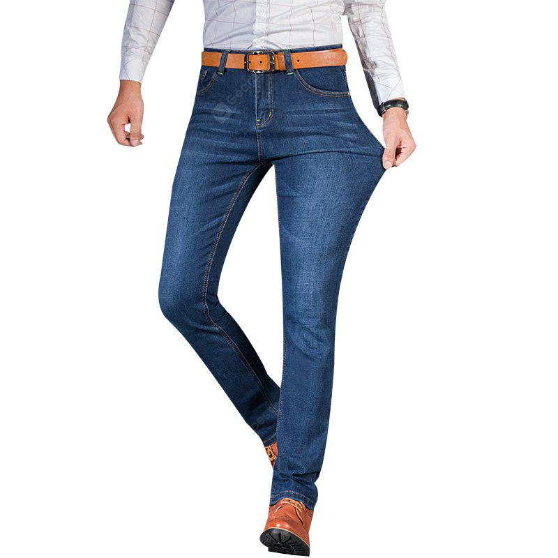 Straight Elastic Factory Jeans BLUE 42