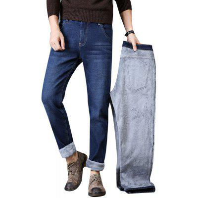 Men Winter Warm Straight Fit Denim JeansPlus Size Bottoms<br>Men Winter Warm Straight Fit Denim Jeans<br><br>Closure Type: Zipper Fly<br>Fabric Type: Canvas<br>Fit Type: Straight<br>Front Style: Flat<br>Material: Cotton, Polyester, Spandex<br>Package Contents: 1xJeans<br>Pant Length: Long Pants<br>Pant Style: Straight<br>Style: Casual<br>Waist Type: Mid<br>Weight: 0.5000kg
