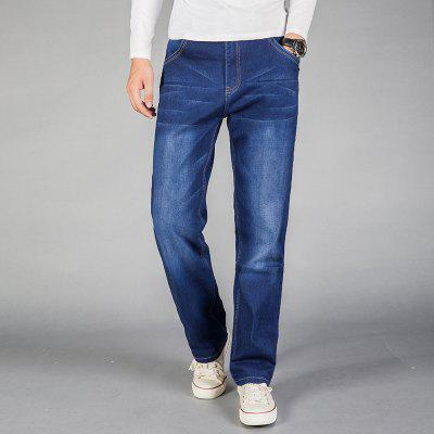Straight Fit Stretch Denim Large Size TrousersMens Pants<br>Straight Fit Stretch Denim Large Size Trousers<br><br>Closure Type: Zipper Fly<br>Fabric Type: Canvas<br>Fit Type: Loose<br>Material: Cotton, Spandex, Polyester<br>Package Contents: 1xJeans<br>Pant Length: Long Pants<br>Pant Style: Wide Leg Pants<br>Waist Type: Mid<br>Wash: Light<br>Weight: 0.4000kg