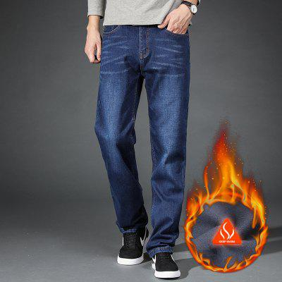 Men Fleece Lined Skinny Winter Slim Fit Thicken Warm Stretch JeansMens Pants<br>Men Fleece Lined Skinny Winter Slim Fit Thicken Warm Stretch Jeans<br><br>Closure Type: Zipper Fly<br>Fabric Type: Canvas<br>Fit Type: Loose<br>Material: Cotton<br>Package Contents: 1xJeans<br>Pant Length: Long Pants<br>Pant Style: Wide Leg Pants<br>Waist Type: Mid<br>Wash: Light<br>Weight: 0.5000kg
