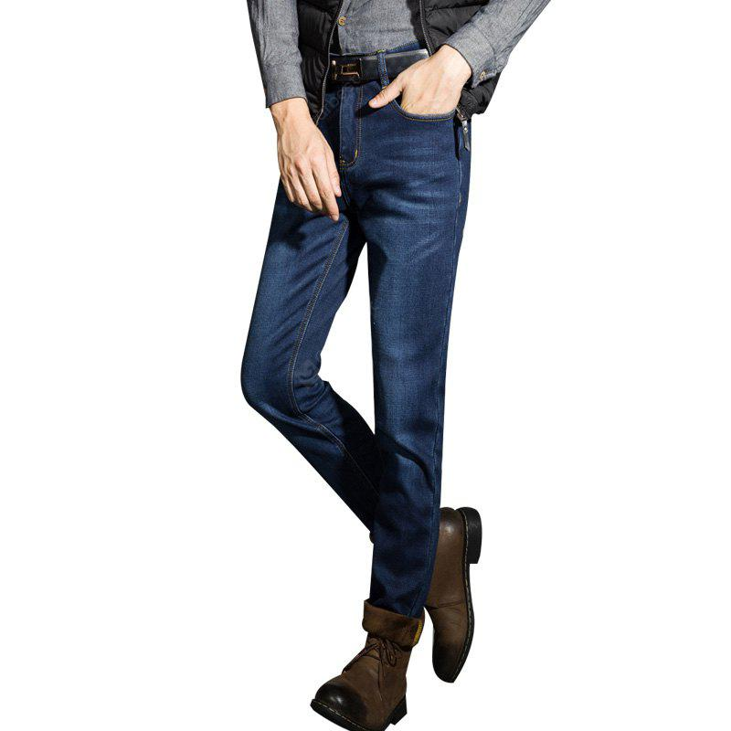 Fleece Lined Skinny Winter Slim Fit Thicken Warm Stretch Jeans