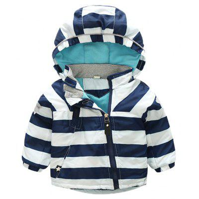 Boy Stripes Hooded Long Sleeves and Long Sleeves