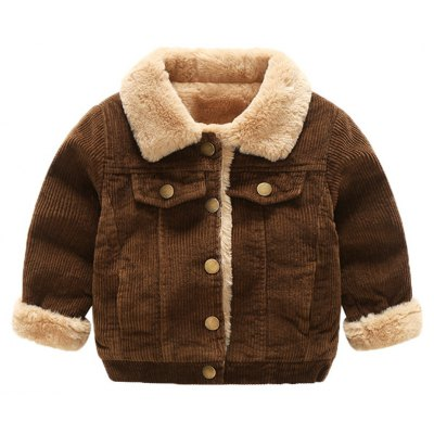 Boy'S Autumn and Winter Coat with Long Sleeves