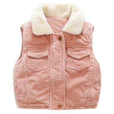 Boy'S Autumn and Winter Plush Vest