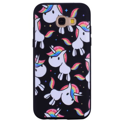 Case For Samsung Galaxy A7(2017) Painted Unicorn Mobile Phone Protection Shell