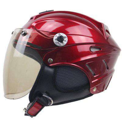Scooter Helmet Motorcycle Helmet Lining with Removable Anti-Theft Lock