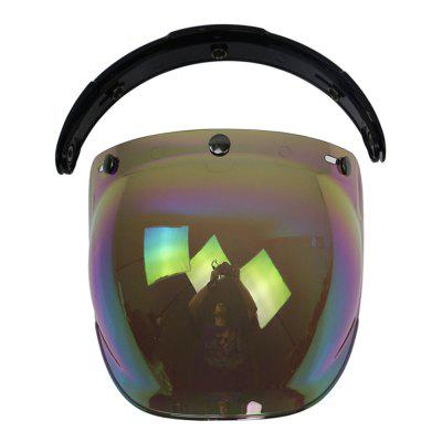 Motorcycle Helmet Motorcycle Helmet Bubble Lens Optical Lens 3/4 Half Helmet Three Buckle Retro Lens