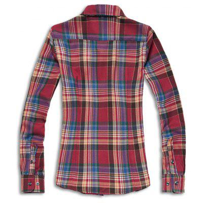 WomenS Shirt Long Sleeve Plaid Turn Down Collar All Match Stylish ShirtBlouses<br>WomenS Shirt Long Sleeve Plaid Turn Down Collar All Match Stylish Shirt<br><br>Collar: Turn-down Collar<br>Elasticity: Elastic<br>Fabric Type: Broadcloth<br>Material: Cotton, Cotton Blends<br>Package Contents: 1 x shirt<br>Pattern Type: Plaid<br>Shirt Length: Regular<br>Sleeve Length: Long Sleeves<br>Style: Casual<br>Weight: 0.3300kg
