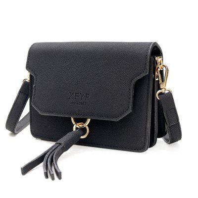 2017 New South Korean Female Bag Ulzzang Bag Bag All-Match Small Tassel Satchel Hong Kong Fashion WindCrossbody Bags<br>2017 New South Korean Female Bag Ulzzang Bag Bag All-Match Small Tassel Satchel Hong Kong Fashion Wind<br><br>Closure Type: No Zipper<br>Gender: For Women<br>Handbag Type: Crossbody bag<br>Main Material: PU<br>Occasion: Versatile<br>Package Contents: 1xBag<br>Package Size(L x W x H): 8.00 x 18.00 x 15.00 cm / 3.15 x 7.09 x 5.91 inches<br>Pattern Type: Solid<br>Style: Casual<br>Weight: 0.4500kg