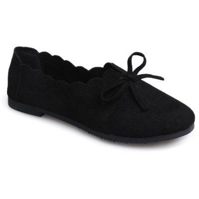 Flat Heeled Butterfly Knot Ladies Shoes
