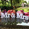 Mr & Mrs Wooden Letters Sign Wedding Decoration Romantic Mariage Birthday Party Home Decor - WHITE