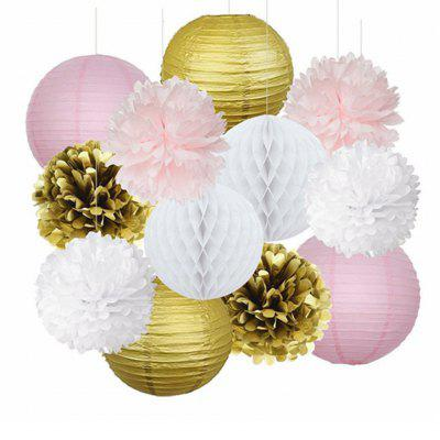 Honeycomb Ball Decorations Stunning Eastern Hope 12Pcs Pink Gold Party Decorations Tissue Paper Pom Inspiration Design