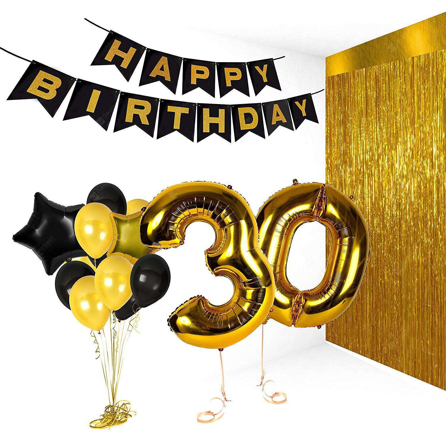eastern hope 30th birthday decorations happy bday banner party kit