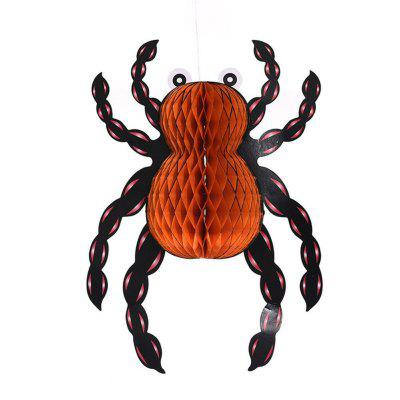 Eastern Hope 3PCS Spider Paper Lanterns Tissue Pom Poms Hanging Ornaments for the Halloween Party Decoration