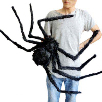 3D Lifelike Black Spider Halloween Decoration Haunted House Tricky Toys (Size:30cm,50cm,75cm,90cm)