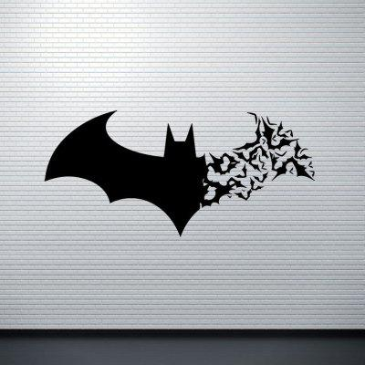 Creativo 3D DIY PVC Negro Bat Wall Sticker Decal Decoración de Halloween Decoración para el hogar
