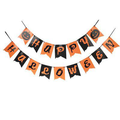 2M Happy Halloween Paper Letter Bunting Banner Room Decorations