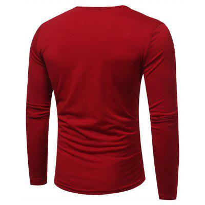 T-Shirt MenS Spring and Summer New Long-Sleeved Crew Neck T-Shirt MenS Fashion Button Design Soft Slim T-ShirtMens T-shirts<br>T-Shirt MenS Spring and Summer New Long-Sleeved Crew Neck T-Shirt MenS Fashion Button Design Soft Slim T-Shirt<br><br>Collar: Round Neck<br>Material: Cotton, Polyester<br>Package Contents: 1x T-Shirt<br>Pattern Type: Solid<br>Sleeve Length: Full<br>Style: Fashion<br>Weight: 0.2300kg