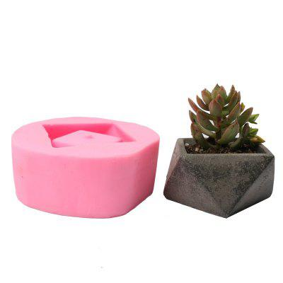 3D Flowerpot Silicone Mold Handmade Concrete Mould for Succulent Plants Cement Plate Home Decoration
