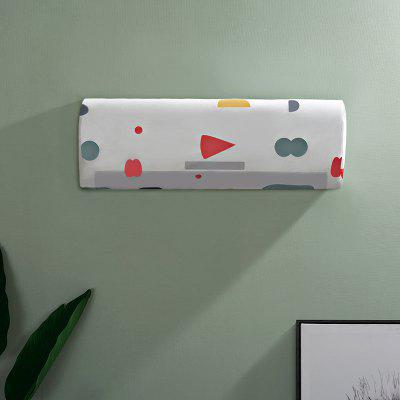Simple Color Geometric Air-Conditioner Waterproof Dustproof Cover