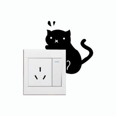Cat-93 Climbing Cat Switch Sticker Lovely Cartoon Kitten Creative Animal Wall StickerWall Stickers<br>Cat-93 Climbing Cat Switch Sticker Lovely Cartoon Kitten Creative Animal Wall Sticker<br><br>Art Style: Plane Wall Stickers, Toilet Stickers<br>Color Scheme: Black<br>Effect Size (L x W): 9 x 9.9cm<br>Function: Decorative Wall Sticker<br>Layout Size (L x W): 9 x 9.9cm<br>Material: Vinyl(PVC)<br>Package Contents: 1 x Wall Sticker<br>Package size (L x W x H): 11.00 x 11.00 x 1.00 cm / 4.33 x 4.33 x 0.39 inches<br>Package weight: 0.0500 kg<br>Product size (L x W x H): 9.00 x 9.90 x 0.01 cm / 3.54 x 3.9 x 0 inches<br>Product weight: 0.0400 kg<br>Quantity: 1<br>Sizes: Others<br>Subjects: Fashion,Vintage,Others,Letter,Cute,Cartoon,Music,Famous,Romance<br>Suitable Space: Living Room,Hotel,Kids Room,Pathway,Kids Room,Boys Room,Girls Room,Game Room<br>Type: Plane Wall Sticker