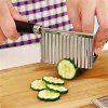 Stainless Steel Potato Wavy Edged Knife Gadget Vegetable Fruit Cutter Peeler - SILVER