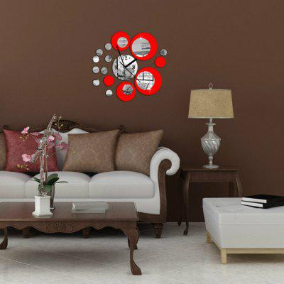 Acrylic Wall Clock With Diy Circles Mirror Wall Stickers For Home - Wall decals mirror
