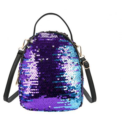 Women's Fish Scale Sequined Backpack Large-capacity multi-zip color multi-purpose bag