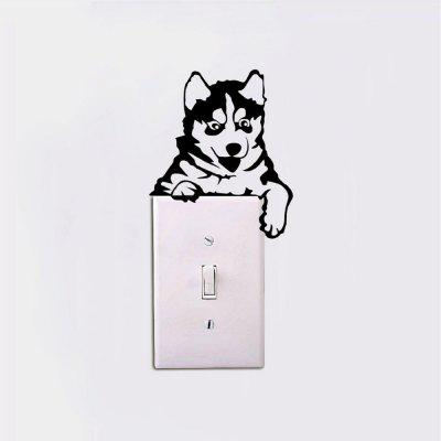 DSU Creative Husky Dog Light Switch Sticker Funny Cartoon Animal Vinyl Wall StickersWall Stickers<br>DSU Creative Husky Dog Light Switch Sticker Funny Cartoon Animal Vinyl Wall Stickers<br><br>Art Style: Plane Wall Stickers, Toilet Stickers<br>Artists: Others<br>Brand: DSU<br>Color Scheme: Black<br>Effect Size (L x W): 13 x 11 cm<br>Function: Decorative Wall Sticker<br>Layout Size (L x W): 13 x 11 cm<br>Material: Vinyl(PVC)<br>Package Contents: 1 x Wall Sticker<br>Package size (L x W x H): 15.00 x 15.00 x 1.00 cm / 5.91 x 5.91 x 0.39 inches<br>Package weight: 0.0400 kg<br>Product size (L x W x H): 13.00 x 11.00 x 0.01 cm / 5.12 x 4.33 x 0 inches<br>Product weight: 0.0300 kg<br>Quantity: 1<br>Subjects: Fashion,Letter,Cute,Cartoon,Famous<br>Suitable Space: Living Room,Bedroom,Hotel,Kids Room,Entry,Kitchen,Pathway,Door,Corridor,Hallway,Boys Room,Game Room<br>Type: Plane Wall Sticker