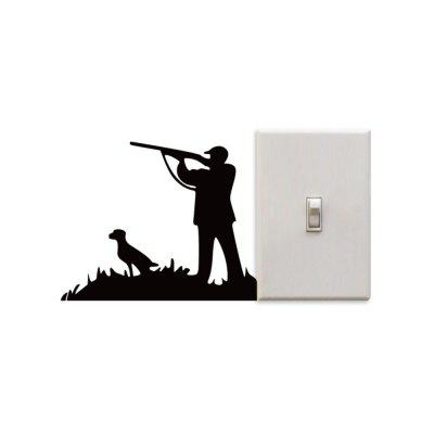 DSU Hunting Man And His Dog Switch Sticker Creative Hunting Silhouette Vinyl Wall StickerWall Stickers<br>DSU Hunting Man And His Dog Switch Sticker Creative Hunting Silhouette Vinyl Wall Sticker<br><br>Art Style: Plane Wall Stickers, Toilet Stickers<br>Artists: Others<br>Brand: DSU<br>Color Scheme: Black<br>Effect Size (L x W): 10.3 x 12.8 cm<br>Function: Decorative Wall Sticker<br>Layout Size (L x W): 10.3 x 12.8 cm<br>Material: Vinyl(PVC)<br>Package Contents: 1 x Wall Sticker<br>Package size (L x W x H): 15.00 x 15.00 x 1.00 cm / 5.91 x 5.91 x 0.39 inches<br>Package weight: 0.0400 kg<br>Product size (L x W x H): 10.30 x 12.80 x 0.01 cm / 4.06 x 5.04 x 0 inches<br>Product weight: 0.0300 kg<br>Quantity: 1<br>Subjects: Fashion,Letter,Cute,Cartoon,Famous<br>Suitable Space: Living Room,Bedroom,Hotel,Kids Room,Entry,Kitchen,Pathway,Door,Corridor,Hallway,Boys Room,Game Room<br>Type: Plane Wall Sticker