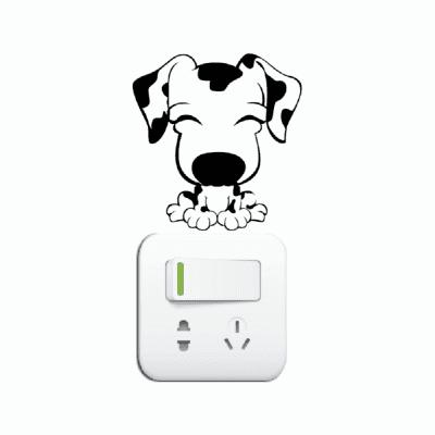 DSU Cute Puppy Switch Sticker Cartoon Animal Vinyl Wall Sticker for Kids Room BedroomWall Stickers<br>DSU Cute Puppy Switch Sticker Cartoon Animal Vinyl Wall Sticker for Kids Room Bedroom<br><br>Art Style: Plane Wall Stickers, Toilet Stickers<br>Artists: Others<br>Brand: DSU<br>Color Scheme: Black<br>Effect Size (L x W): 9.4 x 9 cm<br>Function: Decorative Wall Sticker<br>Layout Size (L x W): 9.4 x 9 cm<br>Material: Vinyl(PVC)<br>Package Contents: 1 x Wall Sticker<br>Package size (L x W x H): 12.00 x 12.00 x 1.00 cm / 4.72 x 4.72 x 0.39 inches<br>Package weight: 0.0400 kg<br>Product size (L x W x H): 9.40 x 9.00 x 0.01 cm / 3.7 x 3.54 x 0 inches<br>Product weight: 0.0300 kg<br>Quantity: 1<br>Subjects: Fashion,Letter,Cute,Cartoon,Famous<br>Suitable Space: Living Room,Bedroom,Hotel,Kids Room,Entry,Kitchen,Pathway,Door,Corridor,Hallway,Boys Room,Game Room<br>Type: Plane Wall Sticker