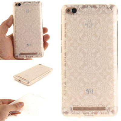 Cover Case for Xiaomi Redmi 3 White Lace Soft Clear IMD TPU Phone Casing Mobile Smartphone