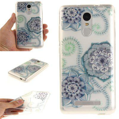 Cover Case for Xiaomi Redmi Note 3 Blue Green Dream Flower Soft Clear IMD TPU Phone Casing Mobile Smartphone
