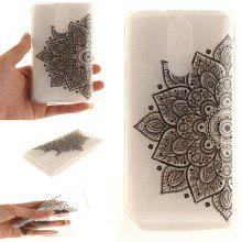 Cover Case for Lenovo K5 Note Black Half Flower Soft Clear IMD TPU Phone Casing Mobile Smartphone
