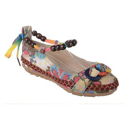 Spring and Autumn New Handmade Folk Wind Embroidered Flat-soled Women's Single Shoes
