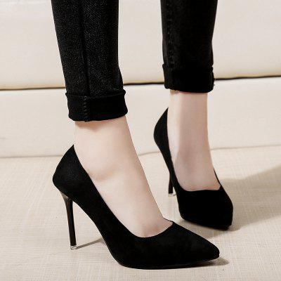 Stylish Womens Shoes with New High-heeled Professional SuedeWomens Pumps<br>Stylish Womens Shoes with New High-heeled Professional Suede<br><br>Heel Type: Stiletto Heel<br>Occasion: Office &amp; Career<br>Package Contents: 1 x Shoes?Pair?<br>Pumps Type: Basic<br>Season: Summer, Winter, Spring/Fall<br>Toe Shape: Pointed Toe<br>Toe Style: Closed Toe<br>Upper Material: Flock<br>Weight: 1.1200kg