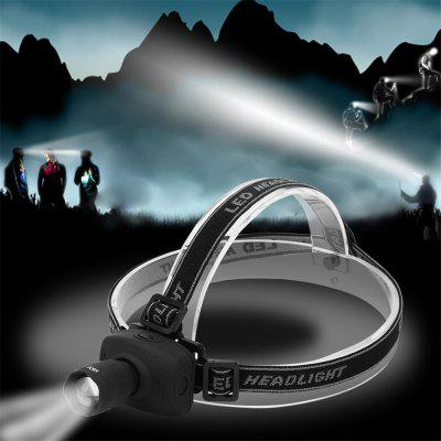 HKV Super Bright Mini LED Farol de pesca Zoomable 3 modos Economia de energia Outdoor Sports Camping Headlight Lanternas