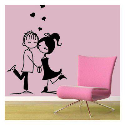 DSU Lovers Hand in Hand and Love Bedroom Wall Stickers DIY Home Wedding Decor Stickers 249161101